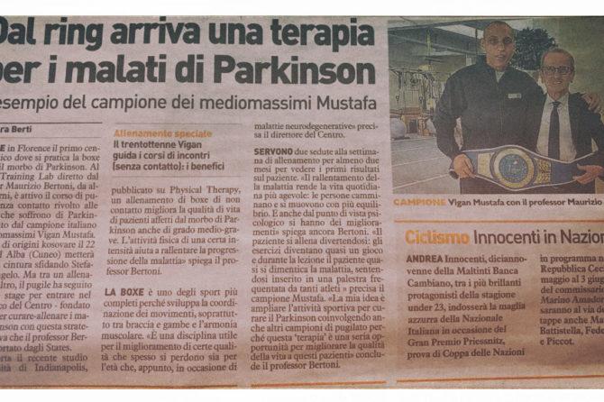 La Nazione: A Firenze la boxe contro il Parkinson