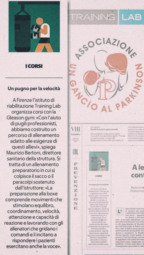 """Un Gancio al Parkinson su """"la Repubblica"""""""
