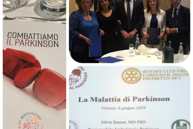 """Cena organizzata dal Rotary per la presentazione dell'Associazione """"Un Gancio al Parkinson"""""""